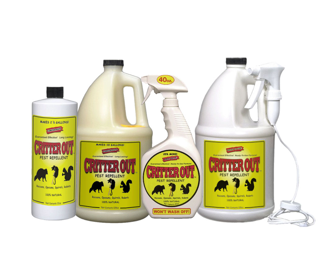 Critter Out is a safe, all natural way to keep rats, mice, and other rodents and pests