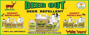 Deer Repellent, Rabbit Repellent, Groundhog Repellent, Rodent Repellent, mouse repellent, rat repellent, Squirrel repellent, raccoon repellent